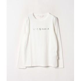 (agnes b./アニエスベー)WM40 TS ロゴTシャツ/レディース ホワイト系その他 送料無料