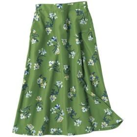 40%OFF【レディース】 フラワープリントスカート - セシール ■カラー:グリーン系 ■サイズ:M,L,LL,3L,S