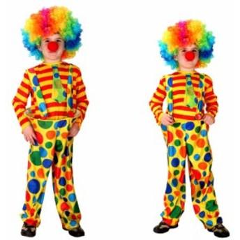 ピエロ 道化師 キッズ 子供 ハロウィン Halloween 仮装 グッズ 舞踏会 学園祭 コスチューム パーティ グッズ キッズ 大人気
