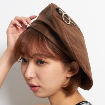 ベレー帽 - WEGO【WOMEN】 ZIPフェイクレザーベレー DA17AW-049