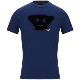 《期間限定セール開催中!》EMPORIO ARMANI メンズ T シャツ ブルー XS コットン 100%