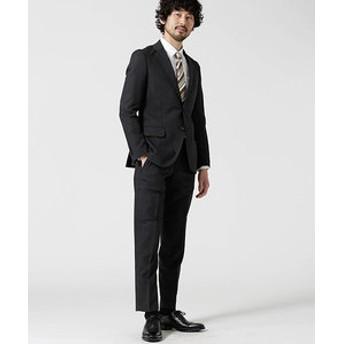 【nano・universe:スーツ・ネクタイ】スーツ+ソリッド+スリム+グレー