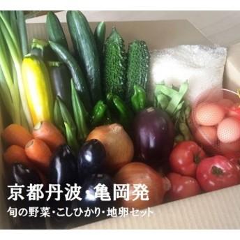 京都丹波・亀岡発 旬の野菜・こしひかり・地卵 詰め合わせセット