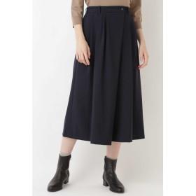 HUMAN WOMAN ≪Japan couture≫ トロストレッチパンツ フルレングスパンツ,ネイビー