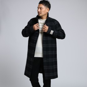 TAKEO KIKUCHI(タケオキクチ:メンズ)/エアリーメルトンスタンドカラーコート[ メンズ コート アウター 軽量 メルトン ]