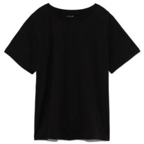 (Mila Owen/ミラオーウェン)バイオボールハイラインクルーTシャツ/レディース BLK