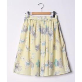 (CHUBBY CURVY/チャビーカーヴィー(大きいサイズ))花柄スカート/レディース イエロー系