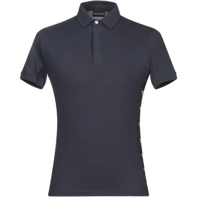 《期間限定セール開催中!》EMPORIO ARMANI メンズ ポロシャツ ダークブルー XXS コットン 95% / ポリウレタン 5%
