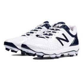 ニューバランス NEW BALANCE PL4040 野球ポイントスパイク [サイズ:26.0cm(D)] [カラー:ホワイト×ネイビー] #PL4040J5