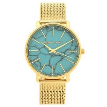 マイケルコース 腕時計 レディース MICHAEL KORS MK4393 ターコイズブルー ゴールド