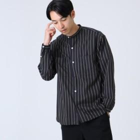 [マルイ] ストライプバンドカラーシャツ/ドレステリア(メンズ)(DRESSTERIOR Mens)