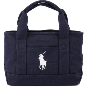 [ポロ ラルフローレン]POLO Ralph Lauren RAS10140A School Tote Small II NAVY WHITE [並行輸入品]