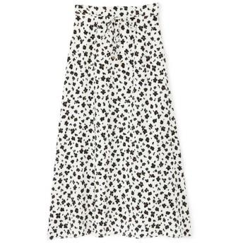 【公式/NATURAL BEAUTY BASIC】[洗える]レオパードプリントスカート/女性/スカート/オフベース/サイズ:XS/(表生地)ポリエステル 100%(裏生地)ポリエステル 100%