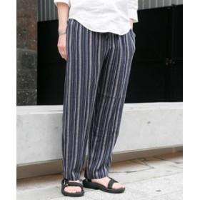 【URBAN RESEARCH:パンツ】リネン混ストライプギャザーパンツ