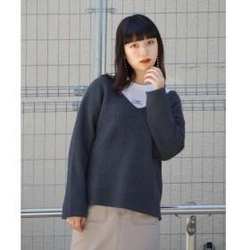 [マルイ] Vネックニット&プリント長袖Tシャツ/179/WG(179 WG)