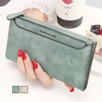 ロングウォレット レザー 大容量 ウォレット 長財布 二つ折り財布 使いやすい レディース 小銭入れ 女性用 カードケース ファスナー