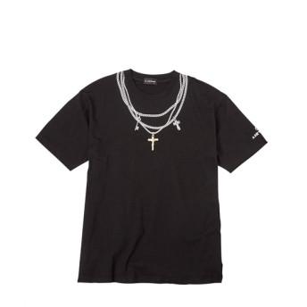AIRWALK(エアウォーク)ネックレスプリント半袖Tシャツ(デオドラントテープ付き) 大きいサイズメンズ Tシャツ・カットソー