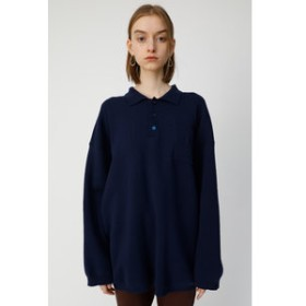 【MOUSSY:トップス】BIG KNIT POLO