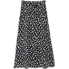 【公式/NATURAL BEAUTY BASIC】[洗える]レオパードプリントスカート/女性/スカート/クロベース/サイズ:XS/(表生地)ポリエステル 100%(裏生地)ポリエステル 100%