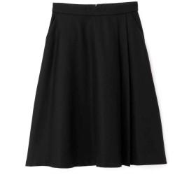 【公式/NATURAL BEAUTY BASIC】ボタニサージスカート/女性/スカート/クロ/サイズ:S/(表生地)毛 100%(裏生地)ポリエステル 100%
