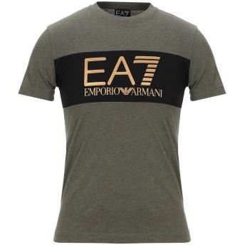 《9/20まで! 限定セール開催中》EA7 メンズ T シャツ ミリタリーグリーン XXS コットン 100%