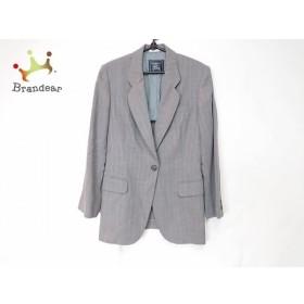 バーバリーズ Burberry's ジャケット サイズ9 M レディース 美品 グレー×白 ストライプ/薄手 新着 20190822