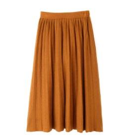 【公式/NATURAL BEAUTY BASIC】[洗える]ニットプリーツスカート/女性/ニットスカート/キャメル/サイズ:M/(表生地)ポリエステル 53% アクリル 21% ナイロン 20% 毛 6%(裏生地)ポリエステル 100%