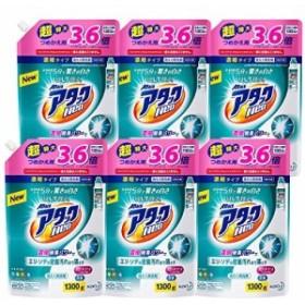 【ケース販売】ウルトラアタックNeo 洗濯洗剤 濃縮液体 詰替用 大容量 1300g(3.6倍分)×6個