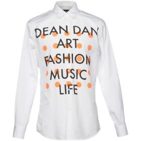 《期間限定セール開催中!》DSQUARED2 メンズ シャツ ホワイト 48 100% コットン