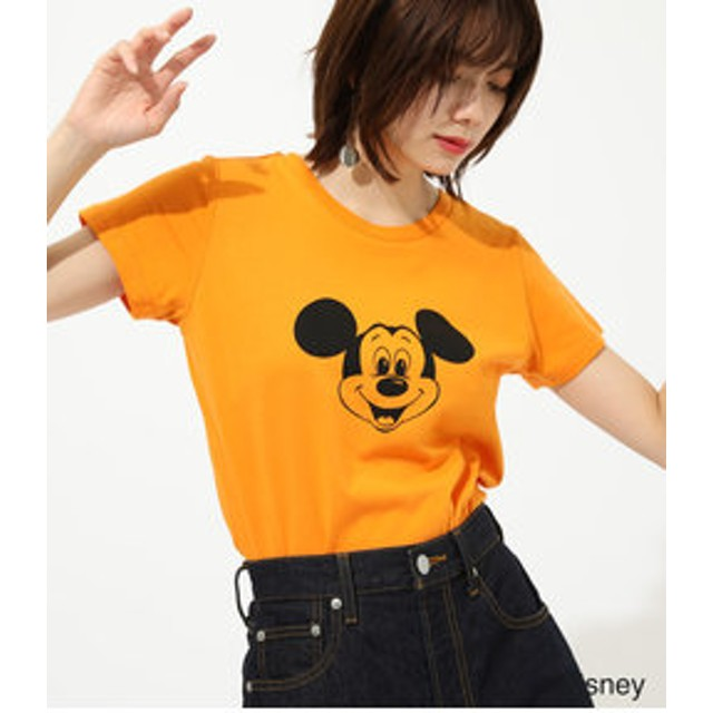 【AZUL by moussy:トップス】MICKEY FACE TEE