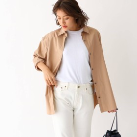 aquagirl(アクアガール)/ストレッチブロード オーバーサイズシャツ