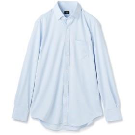 メンズビギ 《サラマックス/EASY CARE》スナップダウンシャツ/ジャージ素材 メンズ サックスブルー M 【Men's Bigi】