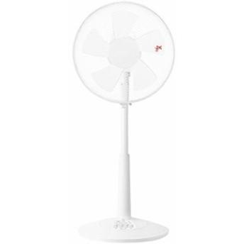 山善 30cmリビング扇風機 (押しボタンスイッチ)(風量3段階) タイマー付 ホワイト YLT-C30(W)