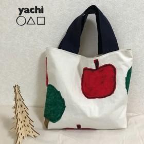 残り少し再販 ︎大きな赤いりんごと木の大きなバッグ