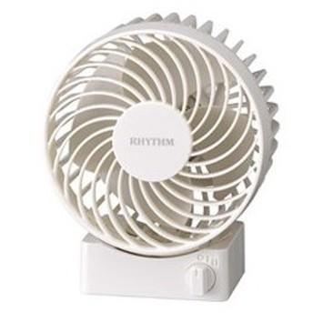 RHYTHM/リズム時計 9ZF017RH03(白) Silky Wind S/シルキーウィンドエス USB扇風機