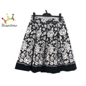 エムズグレイシー M'S GRACY スカート サイズ40 M レディース - - 白×黒 ひざ丈/花柄 新着 20190822