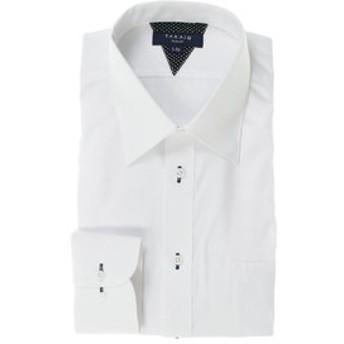 【TAKA-Q:トップス】形態安定抗菌防臭スリムフィット レギュラーカラー長袖ビジネスドレスシャツ/ワイシャツ