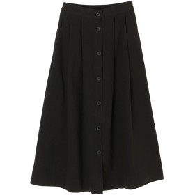 【6,000円(税込)以上のお買物で全国送料無料。】ボタンフレアスカート