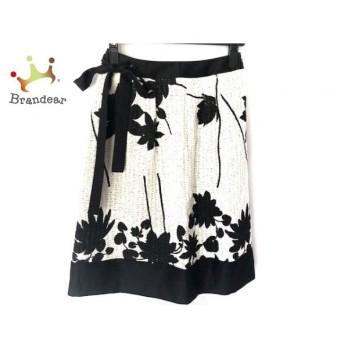 トゥービーシック TO BE CHIC スカート サイズ38 M レディース 白×黒 花柄 新着 20190822