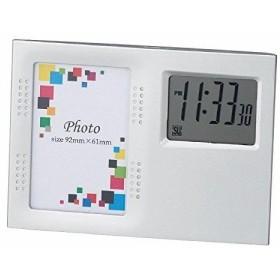 アイトック 写真立て 置き時計 フォトクロック ポライト 6122