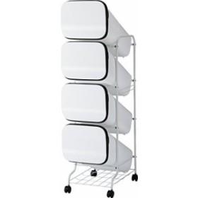リス ゴミ箱 smooth スタンドダストボックス4P  スリム 20L×4 ホワイト