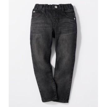 BACK NUMBER ブラックタイトストレートパンツ(ジュニアサイズ150-160cm) キッズ ブラック