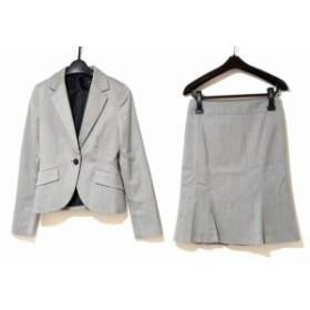 アンタイトル UNTITLED スカートスーツ サイズ1 S レディース グレー×黒 ストライプ【中古】20190821