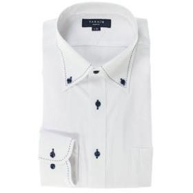 【TAKA-Q:トップス】形態安定抗菌防臭スリムフィット ボタンダウン長袖ビジネスドレスシャツ/ワイシャツ
