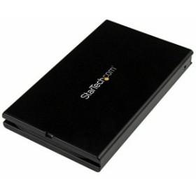 StarTech.com USB 3.1(10 Gbps)接続2.5インチSATA SSD/HDDドライブケース 本体一体型USB-C(Type-C)