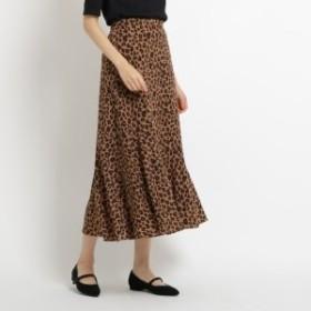 エージー バイ アクアガール(AG by aquagirl)/レオパード柄裾フレアスカート