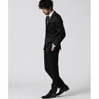 【nano・universe:スーツ・ネクタイ】スーツ+ジャージストレッチ+スリム+ブラック