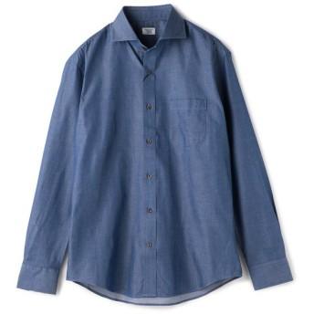 メンズビギ シャンブレーシャツ/コットンデニム調/コットン100% メンズ ブルー M 【Men's Bigi】