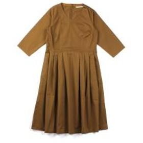 10%OFFクーポン対象商品 グランマ・ママ・ドーター タックワンピース GRANDMA MAMA DAUGHTER by KATO' GE931871 2(L) ブラウン(BRN) クーポンコード:KZUZN2T