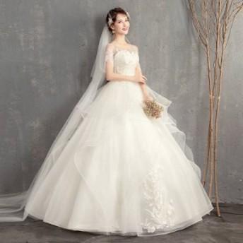 プリンセスライン ティアードデザインウェディングドレス 激安 ウェディングドレス 白 二次会 花嫁 ウェディングドレス カラードレス ウ